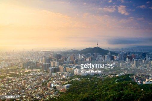 Downtown Seoul from Mt. Inwangsan