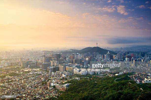 Downtown Seoul from Mt. Inwangsan