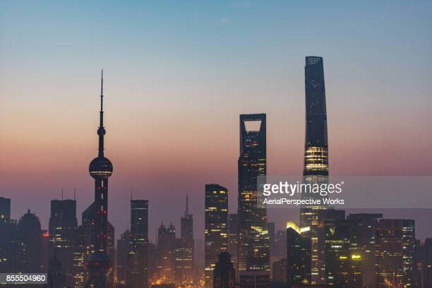 Downtown Shanghai at Dawn