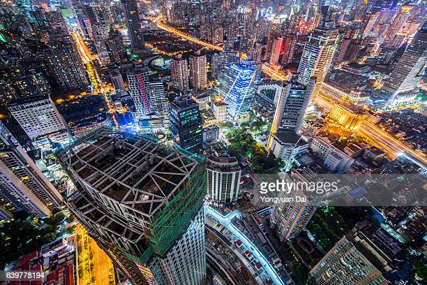 Downtown Shanghai at Night