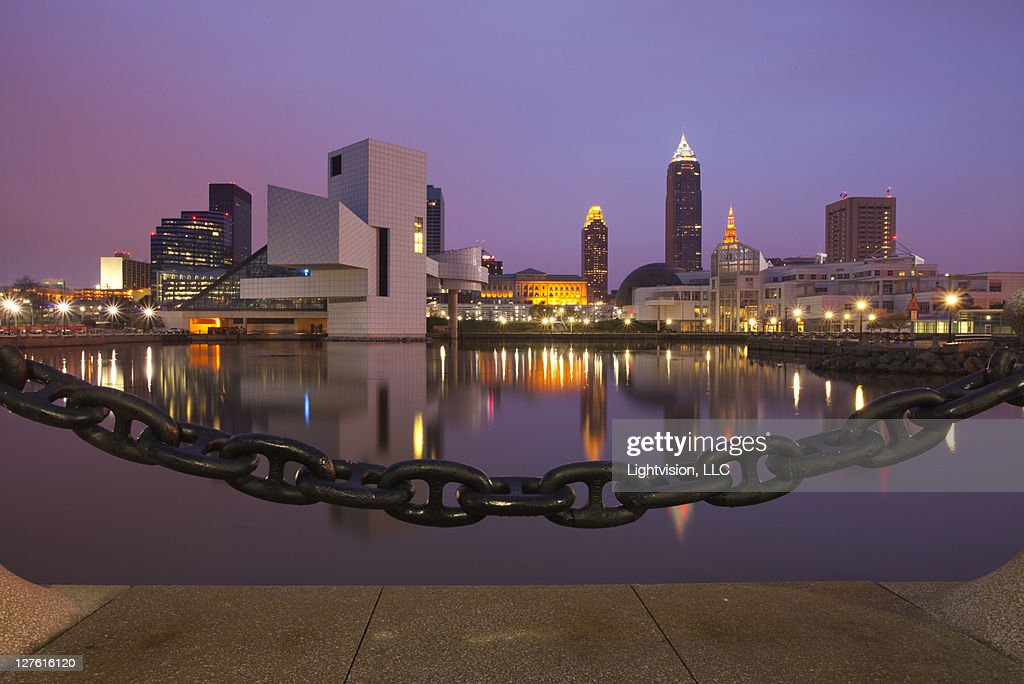 Downtown skyline at Cleveland, Ohio