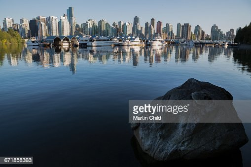 Downtown skyline of Vancouver from Stanley Park