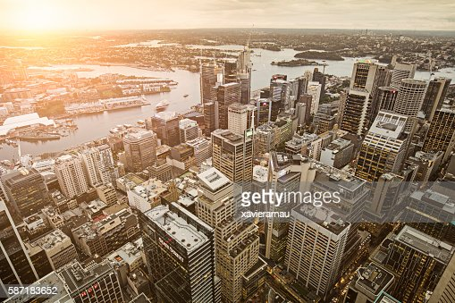 Downtown Sydney at sunset : Stock Photo