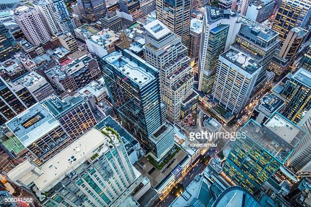 シドニーのダウンタウンの眺め
