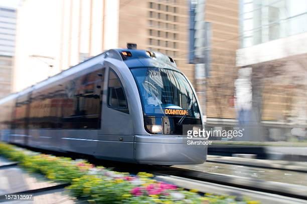 Downtown train in Houston, Texas