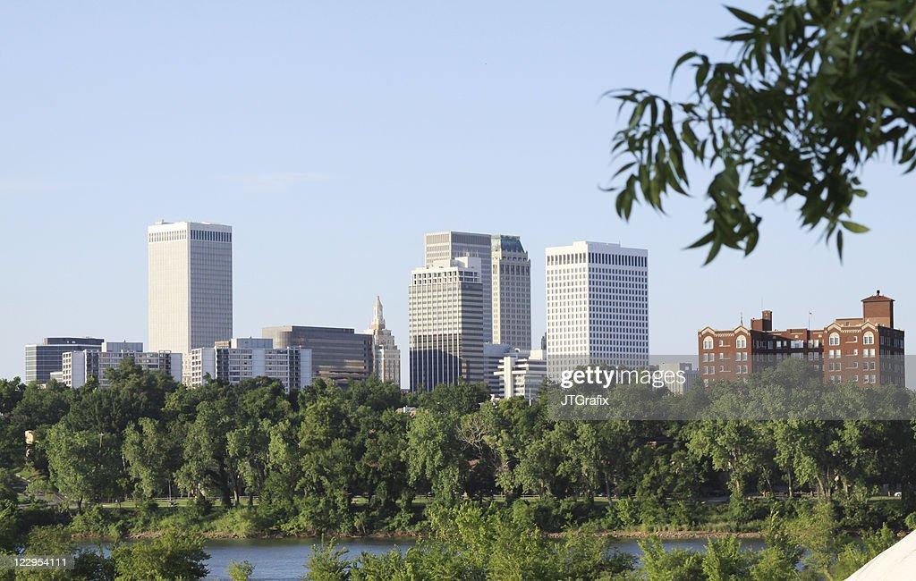Downtown Tulsa, Oklahoma Skyline over Arkansas River