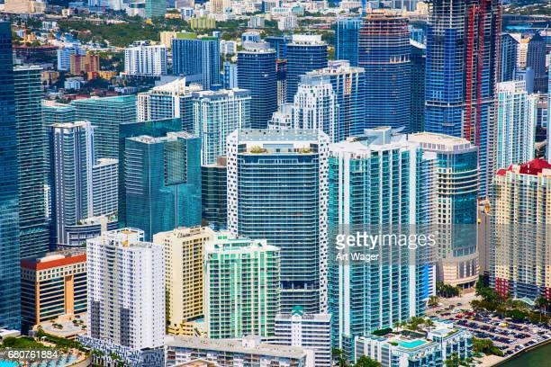 Downtown Urban Background of Miami Florida