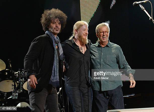 Doyle Bramhall II Derek Trucks and Eric Clapton perform at the Eric Clapton's 70th Birthday Concert Celebration at Madison Square Garden on May 1...