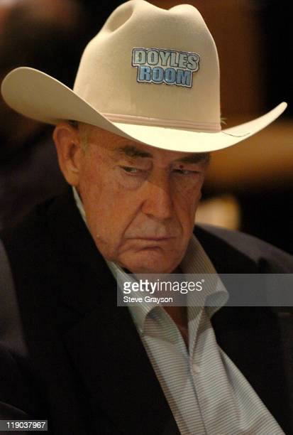 Doyle Brunson takes part in day one of the World Poker Tour's Doyle Brunson North American Poker Championship at the Bellagio Hotel in Las Vegas...