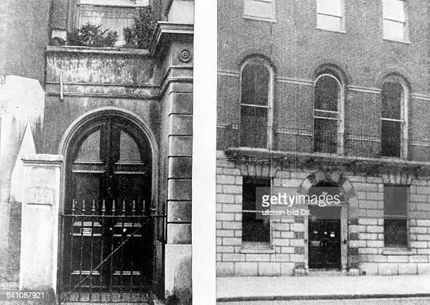 Doyle Sir Arthur Conan *22051859Schriftsteller Arzt GB Aussenansicht des Wohnhauses in der Baker Street in Portsmouth London undatiert