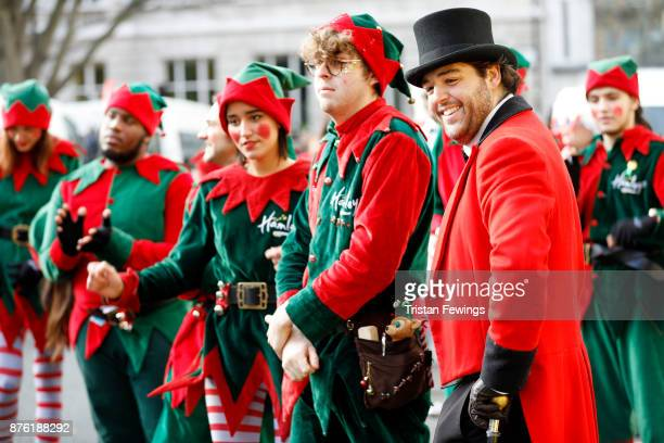 Dozens of Elves were joined by over 300 childrenÕs characters entertainers marching bands floats and flying balloons and an estimated 800000 festive...