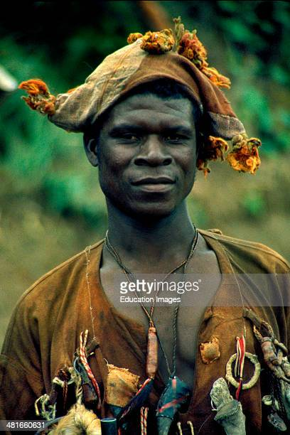 A Dozo traditional hunter of the northern Senoufo people The Dozos are born into a special caste of mystics who wear magic amulets and charms that...