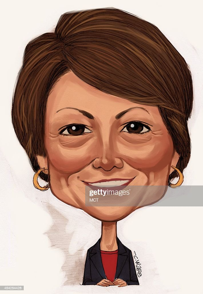 USA - 2014 300 dpi Chris Ware caricature of Cathy McMorris Rodgers, U.S. Representative for Washington's 5th congressional district