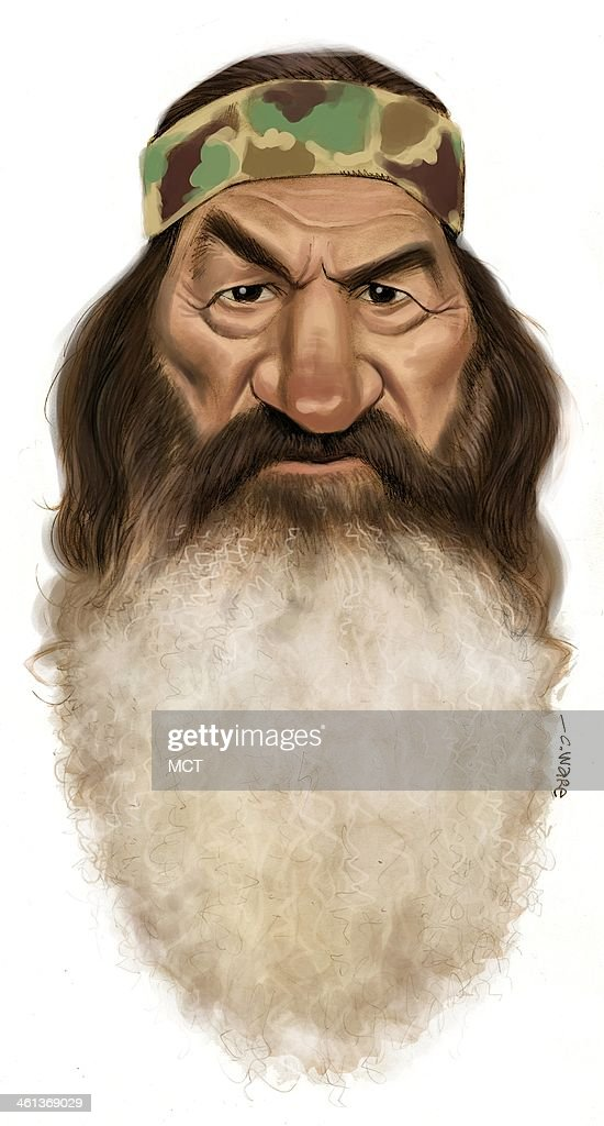 USA - 2014 300 dpi Chris Ware caricature of 'Duck Dynasty' patriarch Phil Robertson.
