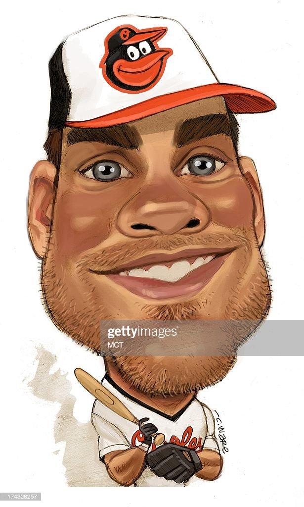 USA - 2013 300 dpi Chris Ware illustration of Balitmore Orioles first baseman Chris Davis. MCT via Getty Images 2013