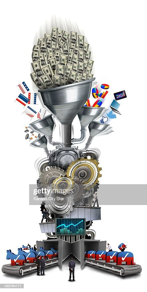 USA - 2013 300 dpi Neil Nakahodo color illustration of a representation of the U.S. political system as a machine driven by money and special interests. (The Kansas City Star/MCT via Getty Images)<p> KC, Kansas City Star by Dave Helling and Scott Canon