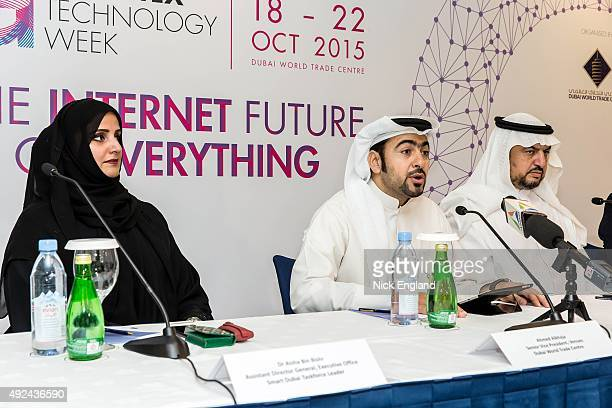 Dr Aisha Bin Bishr Assistant Director General of the Executive Office of the Smart Dubai Taskforce Ahmed Alkhaja Senior Vice President Venues at...