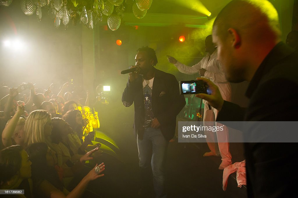 Dr Alban and Wyclef Jean performs at Cafe Opera on February 14, 2013 in Stockholm, Sweden.