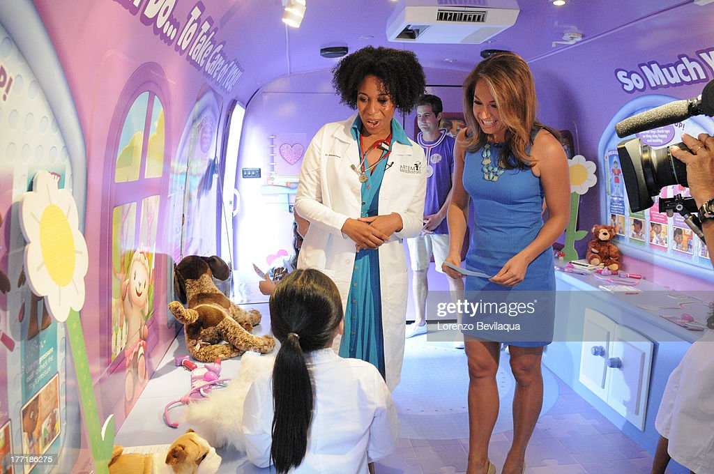 DOC MCSTUFFINS - Dr. Aletha Maybank from Artemis Medical Society, an organization of more than 2500 female African-American physicians from around the world who formed their group after seeing a reflection of themselves in the main character of Disney Junior's 'Doc McStuffins,' gave GOOD MORNING AMERICA'S Ginger Zee a tour of the Doc Mobile, Wednesday, August 21.Time Square Disney Store. ZEE