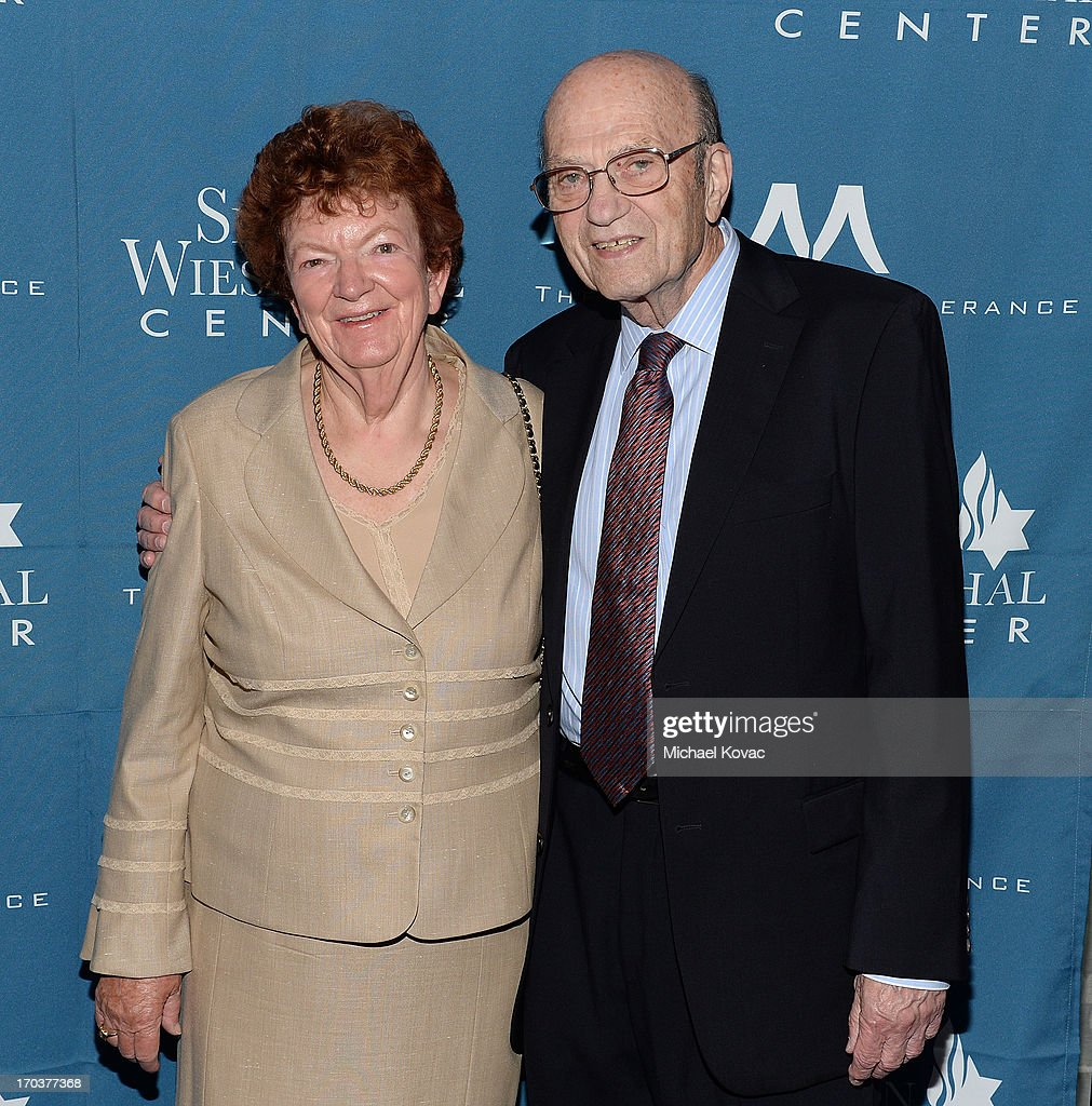Dr. Alex Strasser (R) and wife Helga Strasser arrive at the Simon Wiesenthal Center National Tribute Dinner at Regent Beverly Wilshire Hotel on June 11, 2013 in Beverly Hills, California.