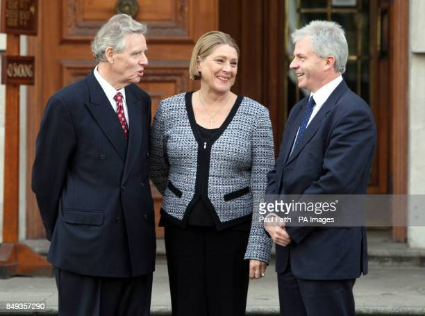 Dr Alistair Hanna with wife Nancy and their architect Richard Hunter outside Belfast High court where the National Trust is in a bid to block the...
