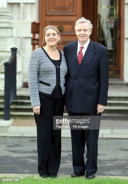 Dr Alistair Hanna with wife Nancy outside Belfast High court where the National Trust is in a bid to block the development of a pound100 million golf...