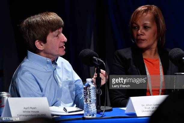 Dr Allan Lichtman professor of history at American University and civil rights attorney Judith BrowneDianis appear on SiriusXM's Joe Madison show on...