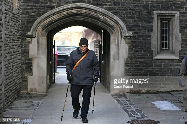 Dr Alvin Zipursky short cuts through Victoria College of the University of Toronto as he makes his trek from his Toronto Home to his office space at...