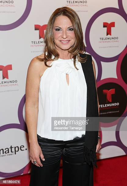 Dr Ana Maria Polo arrives at Telemundo International Welcome Party during NATPE 2015 at Adrienne Arsht Center on January 20 2015 in Miami Florida