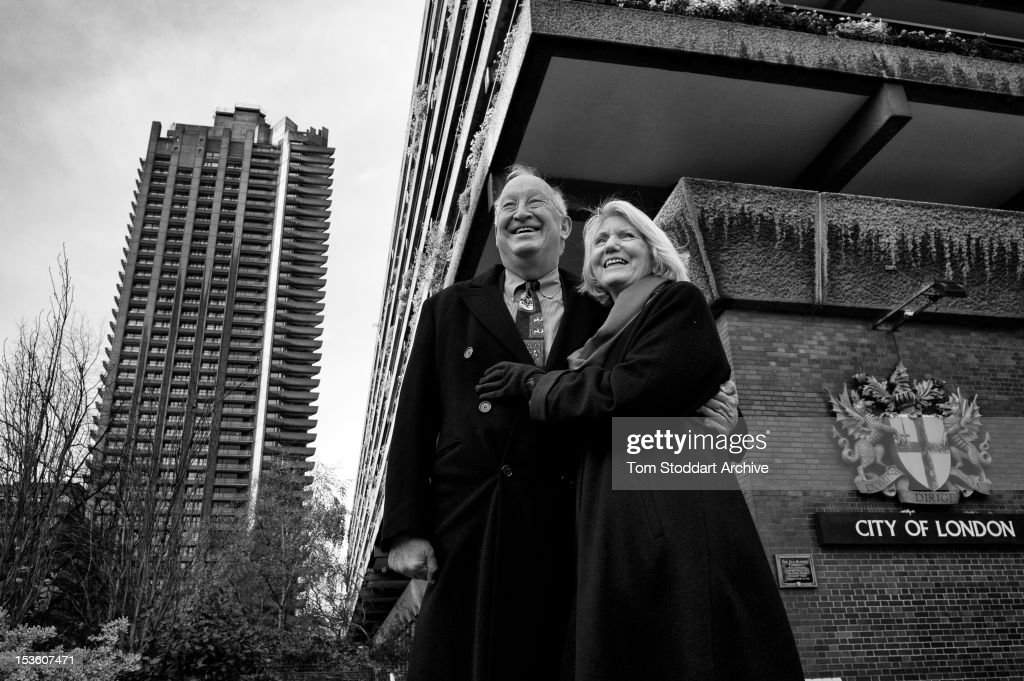 Dr Andreas Prindl photographed with his wife Patricia at the Barbican complex in the City of London. Dr Prindl has lived in the Barbican for many years and is the Deputy Chairman of Lloyd's Insurance. He is a Pastmaster of the Worshipful Company of Musicians, a governor of the Yehudi Menuhin School and trustee of the new music in prisons charity Good Vibrations.