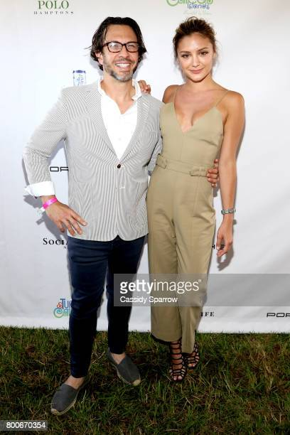 Dr Andrew Jacono and Christine Evangelista attend the 2017 Polo Hamptons at Southampton Polo Club on June 24 2017 in New York City