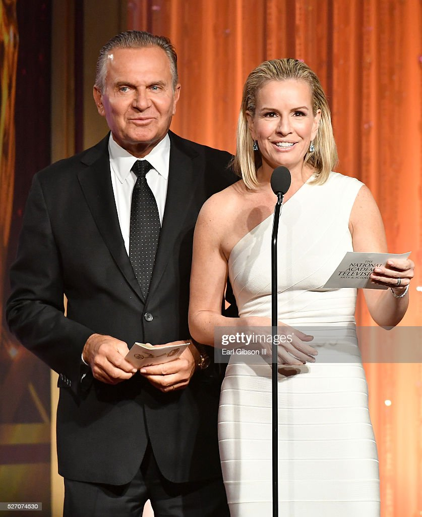 Dr. Andrew P. Ordon, MD (L) and physician Jennifer Ashton present on stage at the 43rd Annual Daytime Emmy Awards at the Westin Bonaventure Hotel on May 1, 2016 in Los Angeles, California.