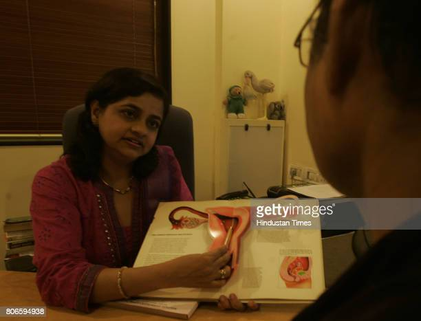 Dr Anjali Malpani's clinic has metallic containers with coded tubes each of which has 46 embryos