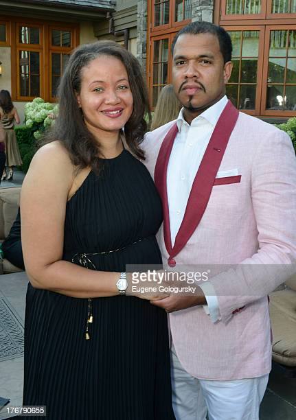 Dr Anjelique Anderson Nunez and Johnny Nunez attend the The Compound Foundation Presents The 2nd Annual 'Fostering A Legacy' Benefit Hosted By NeYO...