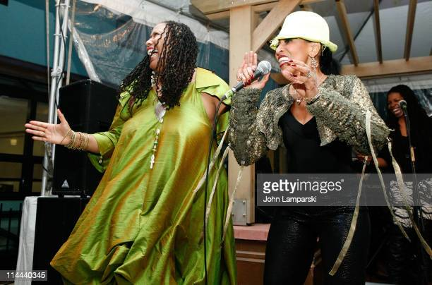 Dr Anne R Elliott and singer Nona Hendryx perform at the opening of Kandake House on May 19 2011 in New York City