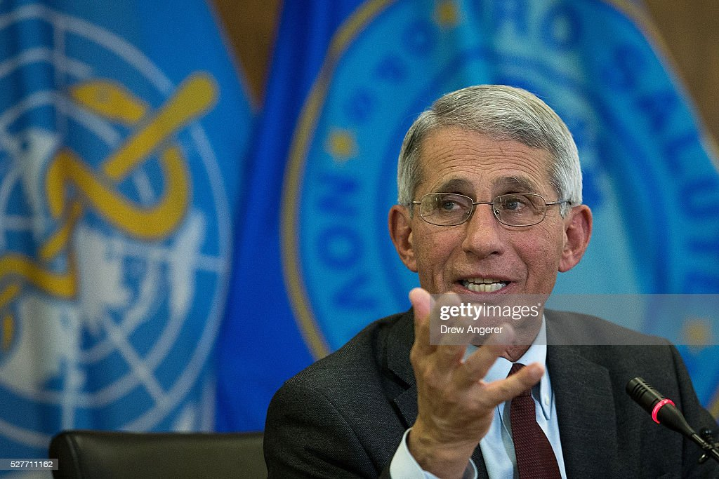 Dr. Anthony Fauci, director of the National Institute of Allergy and Infectious Diseases (NIAD), speaks during a media briefing concerning the Zika virus, at the Pan American Health Organization headquarters, May 3, 2016, in Washington, DC. Researchers have recently discovered the Zika virus in a second mosquito species. Known as the 'Asian Tiger' mosquito, (formally named Aedes albopictus) the species stretches much further north into the United States than the previously known Zika carrying Aedes aegypti species. The discovery was recently reported in the April 21 'Zika - Epidemiological Update' report issued by Pan American Health Organization and the World Health Organization.