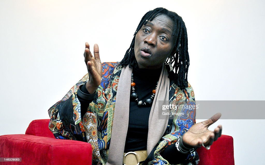 Dr Auma Obama, U.S. President Barack Obama's half sister, sits during an interview on June 14, 2012 in Johannesburg, South Africa.