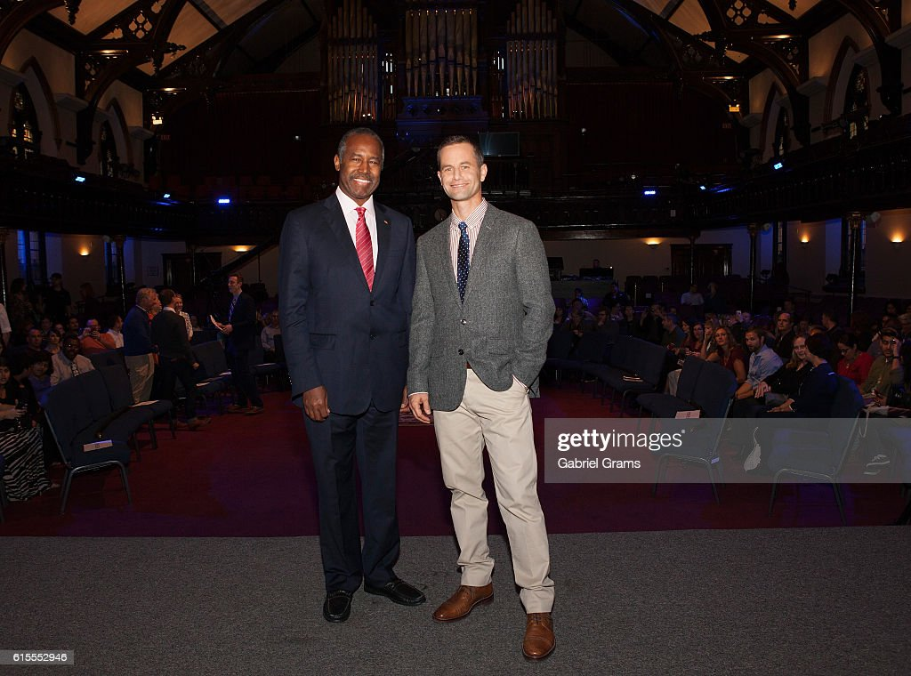 Dr Ben Carson and Kirk Cameron attend Kirk Cameron's ' Revive Us' event at Harvest Cathedral on October 18, 2016 in Chicago City.