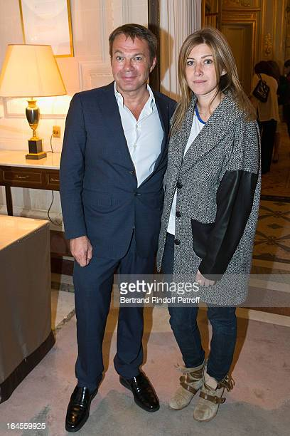 Dr Bertrand Matteoli and Amanda Sthers attend the benefit party in aid of the 'Chirurgie Plus' association at Hotel Meurice on March 24 2013 in Paris...