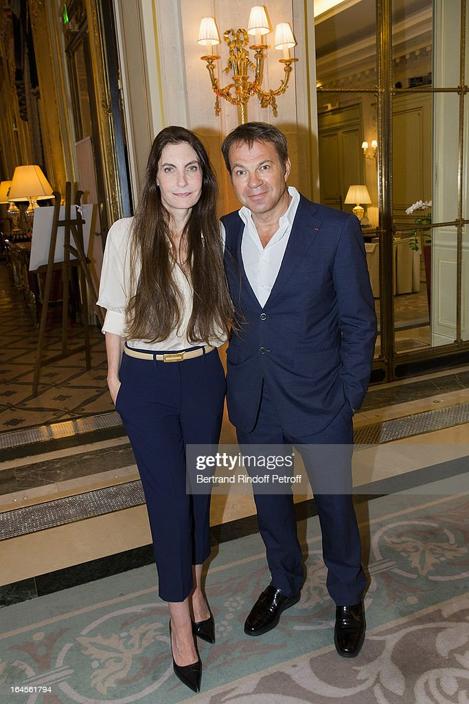 Dr Bertrand Matteoli (R) and his wife Francisca attend the benefit party in aid of the 'Chirurgie Plus' (AC+) association at Hotel Meurice on March 24, 2013 in Paris, France.