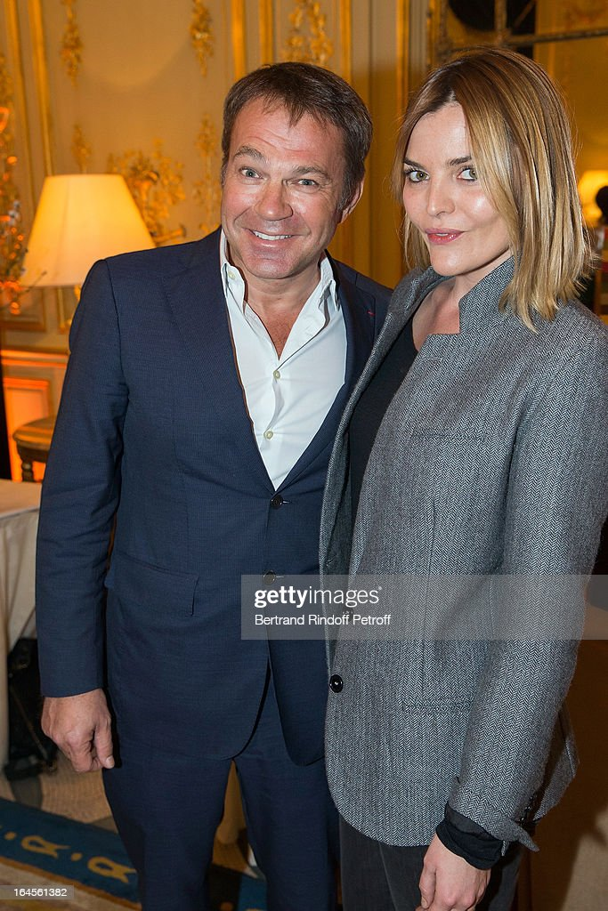Dr Bertrand Matteoli (L) and Justine Fraioli attend the benefit party in aid of the 'Chirurgie Plus' (AC+) association at Hotel Meurice on March 24, 2013 in Paris, France.