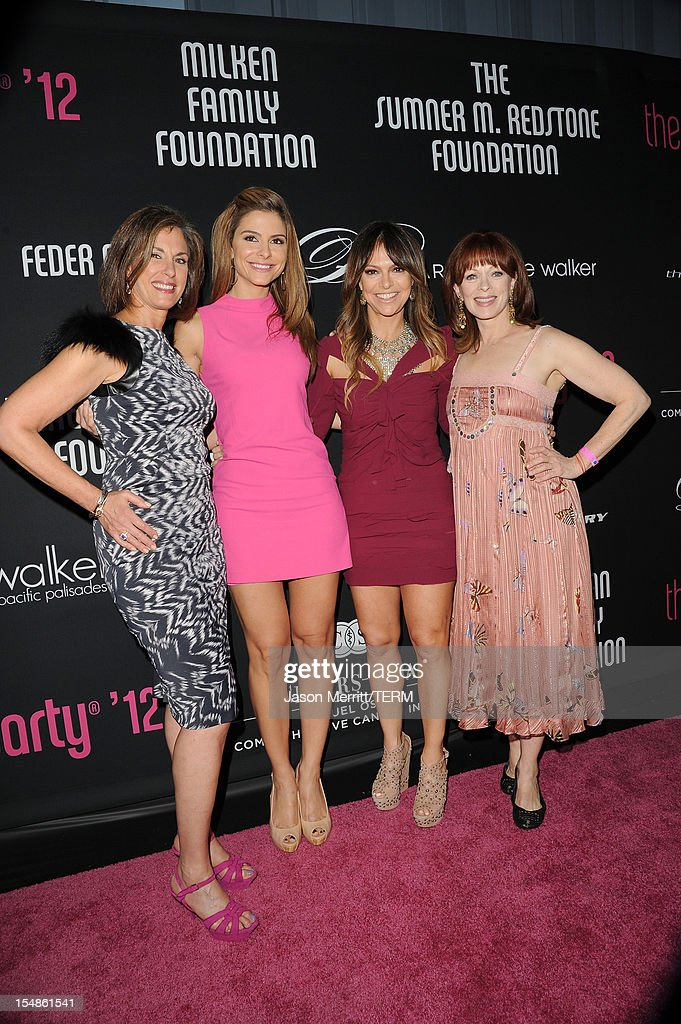 Dr. Beth Y. Karlan, M.D., Director of Cedars-Sinai Women's Cancer Program, TV personality Maria Menounos, Pink Party Founder Elyse Walker and actress Frances Fisher arrive at Elyse Walker presents the 8th annual Pink Party hosted by Michelle Pfeiffer to benefit Cedars-Sinai Women's Cancer Program held at