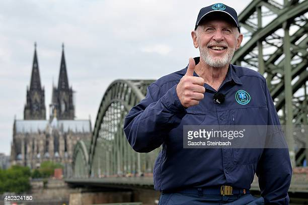 Dr Bob poses during a photo call of 'Ich bin ein Star lasst mich wieder rein' at Hohenzollernbridge on July 30 2015 in Cologne Germany