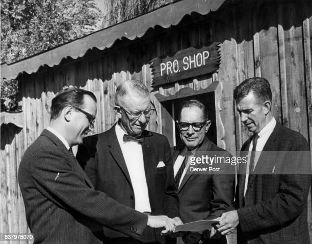 Dr Bob Tschudy Carroll Butts Myron House and Dick Ferguson Credit Denver Post