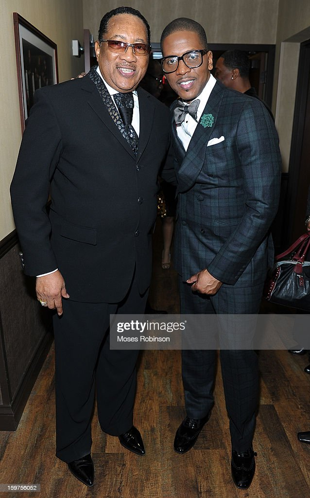 Dr. Bobby Jones and Donald Lawrencec attend the 28th Annual Stellar Awards Backstage at Grand Ole Opry House on January 19, 2013 in Nashville, Tennessee.