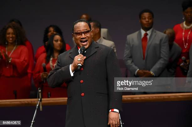 Dr Bobby Jones speaks during an Evening with Richard Smallwood and Yolanda Adams benefiting The National Museum Of African American Music at Mt Zion...