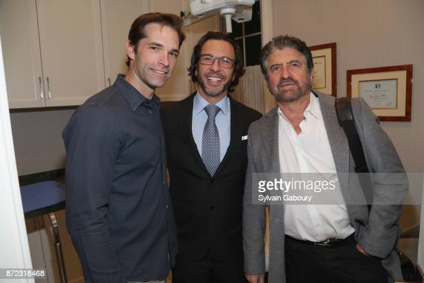 Dr Brian Kantor Dr Andrew Jacono and Dr Mark Lowenbergattend Dr Andrew Jacono's Park Avenue Aesthetic Surgery Center Unveiling on November 9 2017 in...