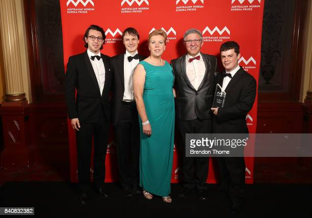 Dr Bryn Sobott David Peake Roger Rassool and Kevin Rassool of FREO2 University of Melbourne are presented with the 2017 ANSTO Eureka Prize for...