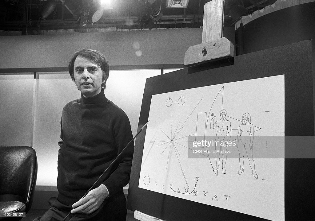 Dr. Carl Sagan on CAMERA THREE. Image dated January 28, 1974.