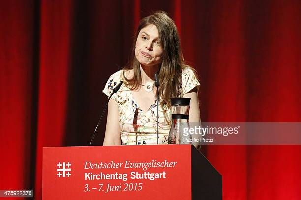 Dr Christiane Florin editorinchief of supplement 'Christian and World' of the German national weekly newspaper 'Die Zeit' moderates the panel...
